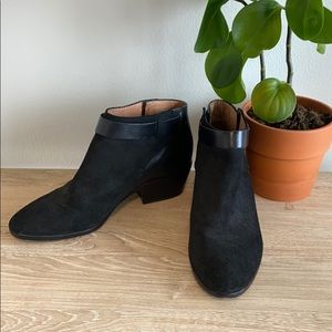 "Madewell ""The Charley"" Collar Ankle Booties, 9.5"
